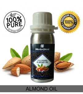 Almond Oil Cold pressed for skin hair face organic pure sweet and natural