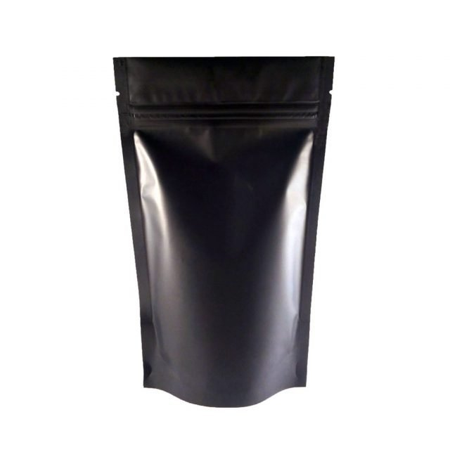 Black Matte Stand up / Zipper Pouch