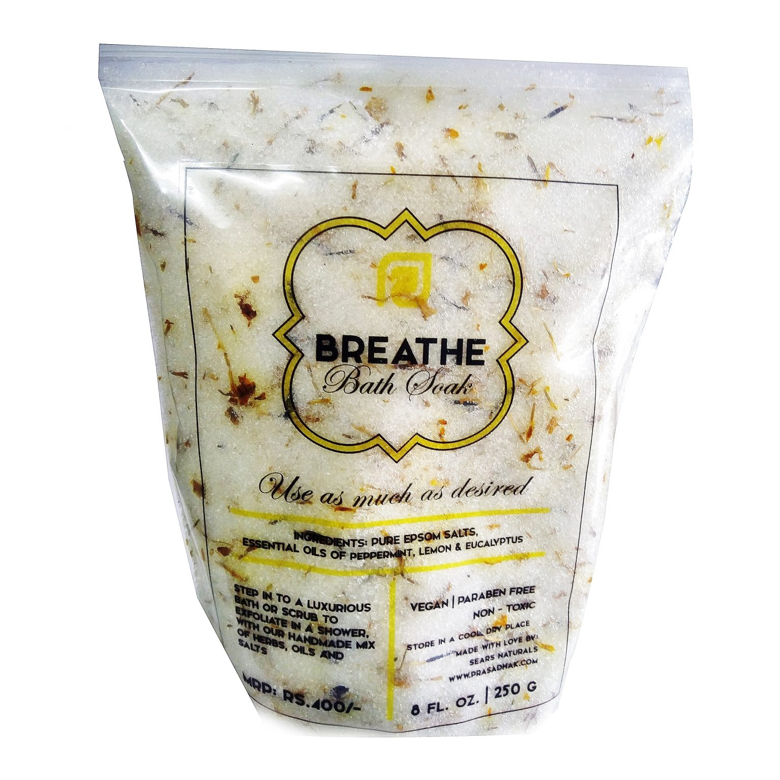 Breathe Bath Salts with Herbs