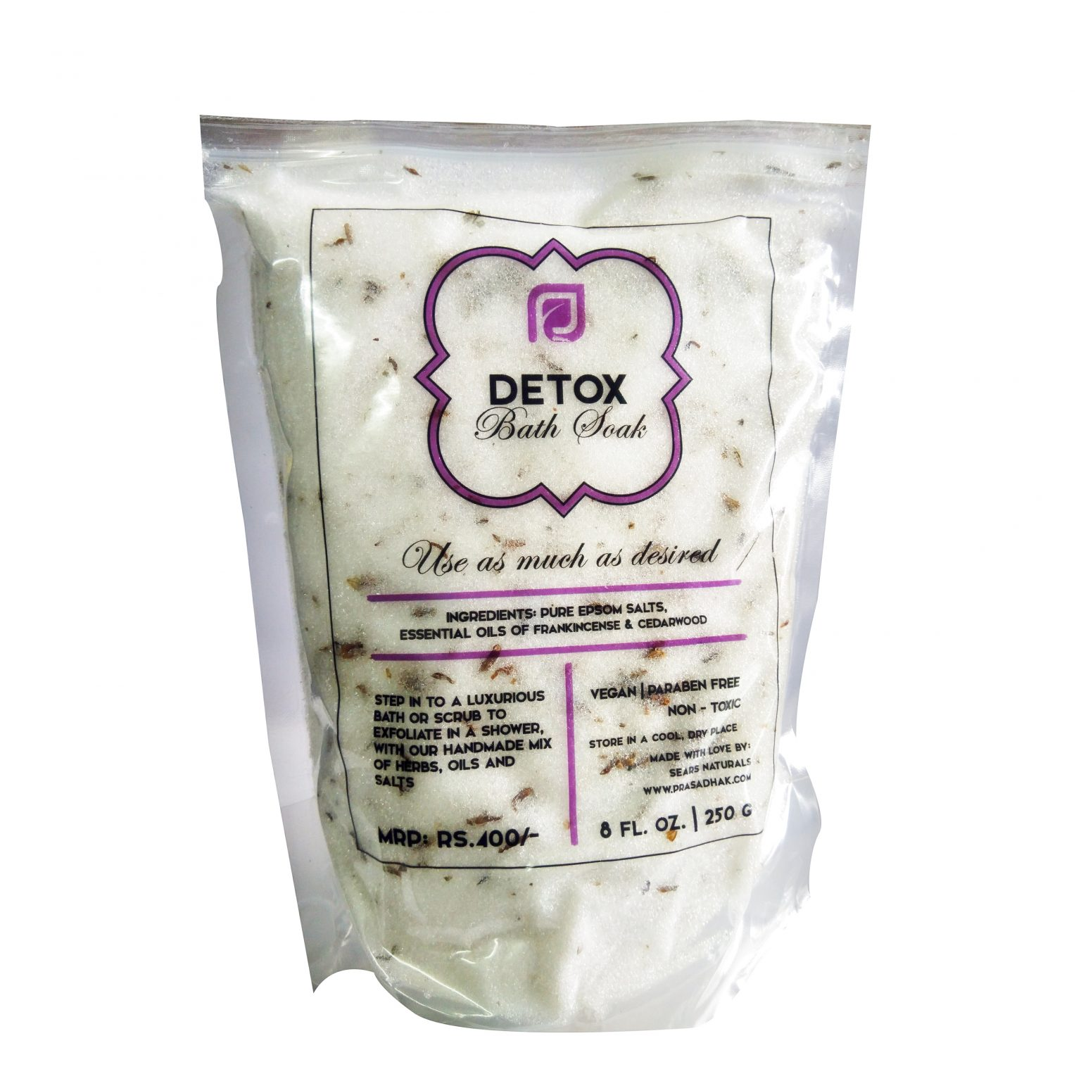 Detox Bath Salts with Herbs