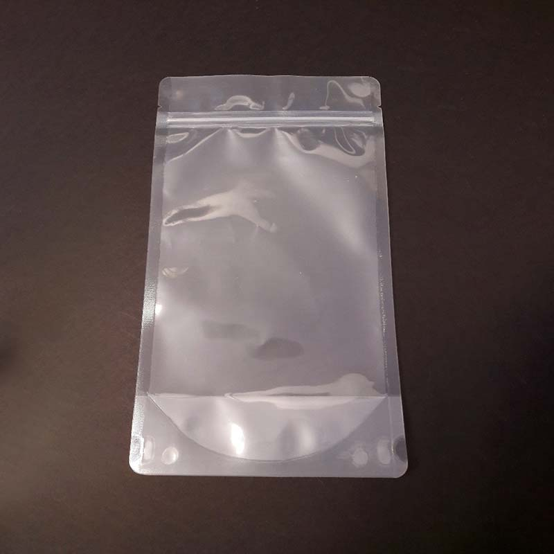 transparent stand up pouch