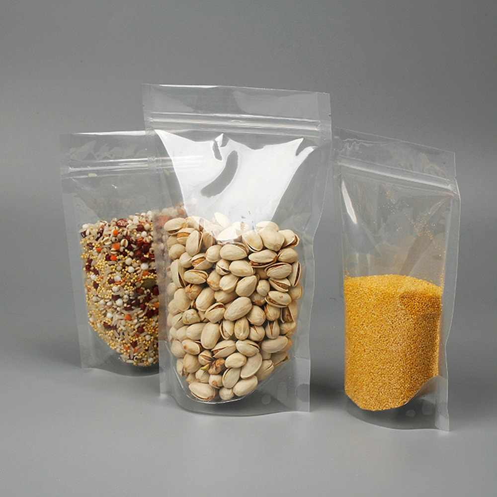transparent stand up pouches